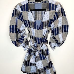 House Of Holland Belted Patchwork Mini Dress.